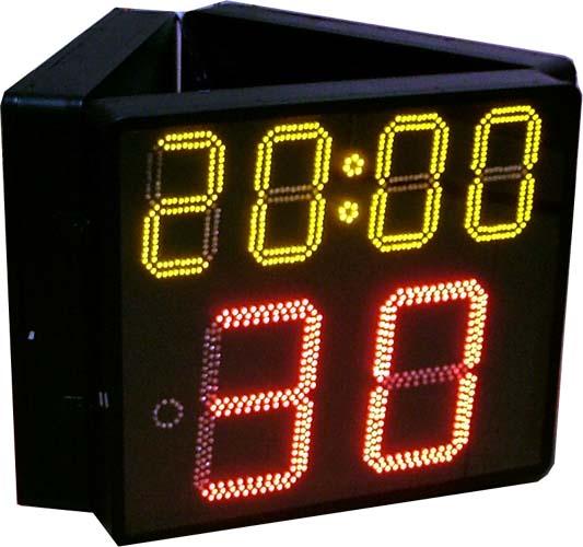 产品展示 电子计时器/ 计 分牌系列产品 > 篮球比赛三面钟  &